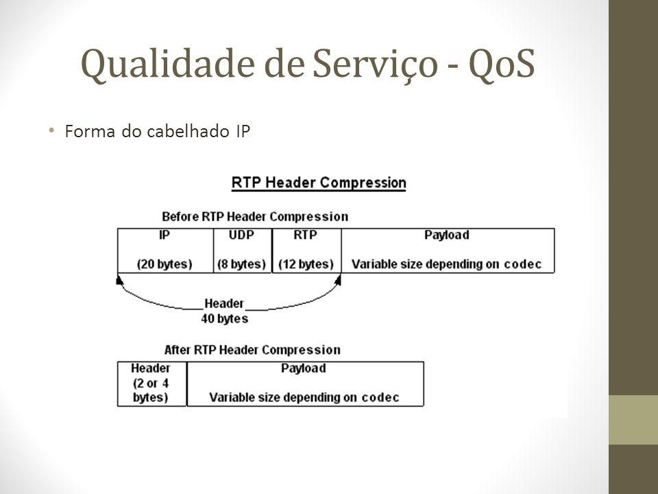 Qualidade de Serviço - QoS Forma do cabelhado IP