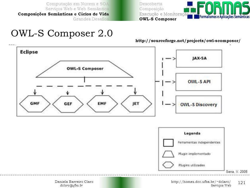 OWL-S Composer 2.0 121 http://sourceforge.net/projects/owl-scomposer/ Sena, V.