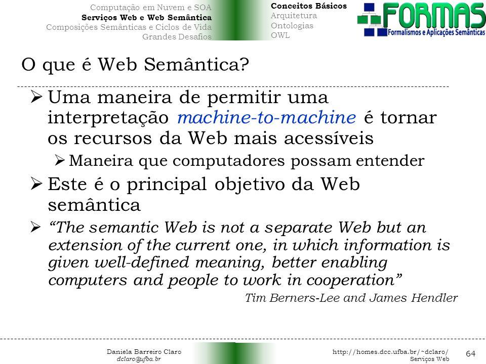 O que é Web Semântica.