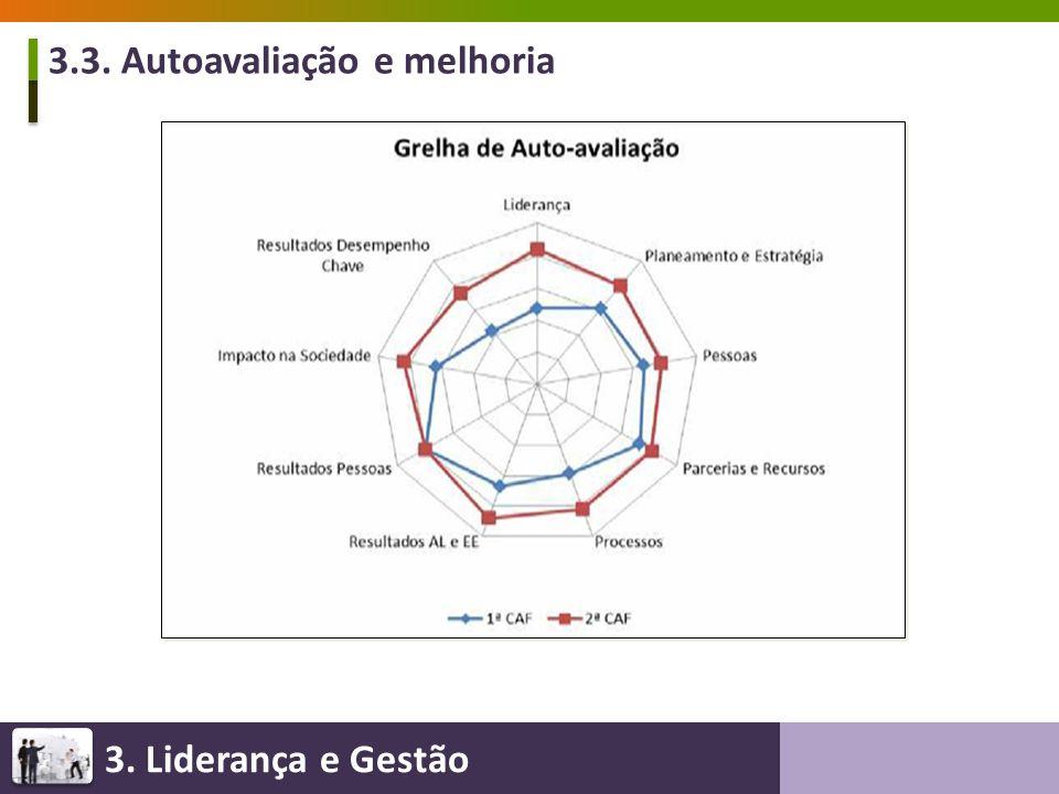 3. Liderança e Gestão 3.3. Autoavaliação e melhoria
