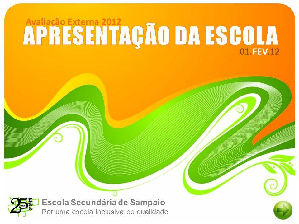 Escola Secundária de Sampaio Por uma escola inclusiva de qualidade 01.FEV.12 Avaliação Externa 2012