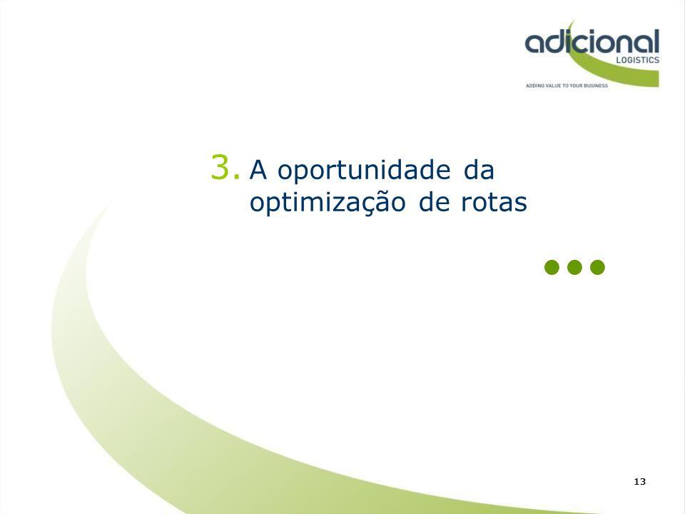 3. A oportunidade da optimização de rotas 13