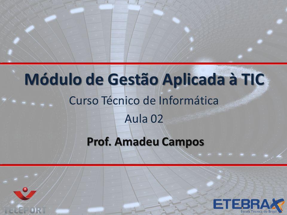 Prof. Amadeu Campos Módulo de Gestão Aplicada à TIC Curso Técnico de Informática Aula 02