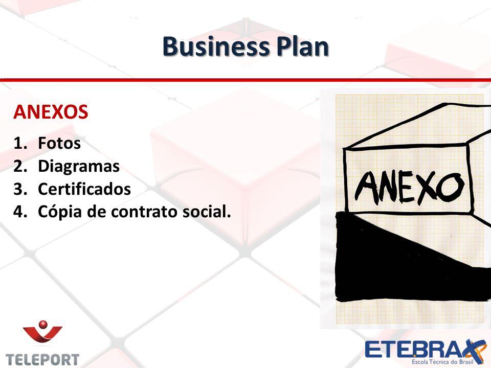 Business Plan ANEXOS 1.Fotos 2.Diagramas 3.Certificados 4.Cópia de contrato social.