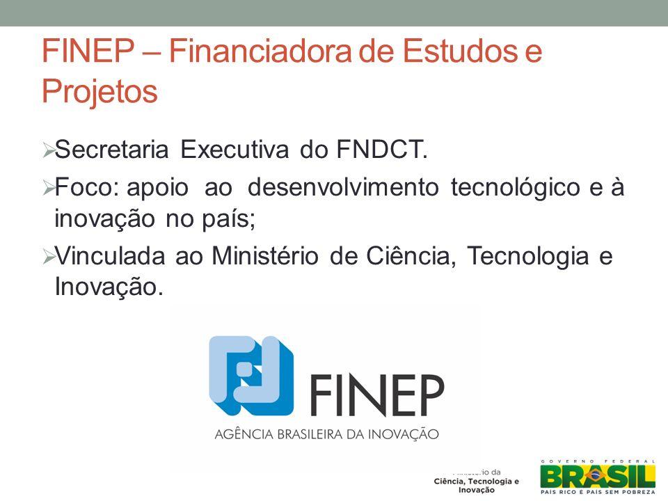 FINEP – Financiadora de Estudos e Projetos Secretaria Executiva do FNDCT.