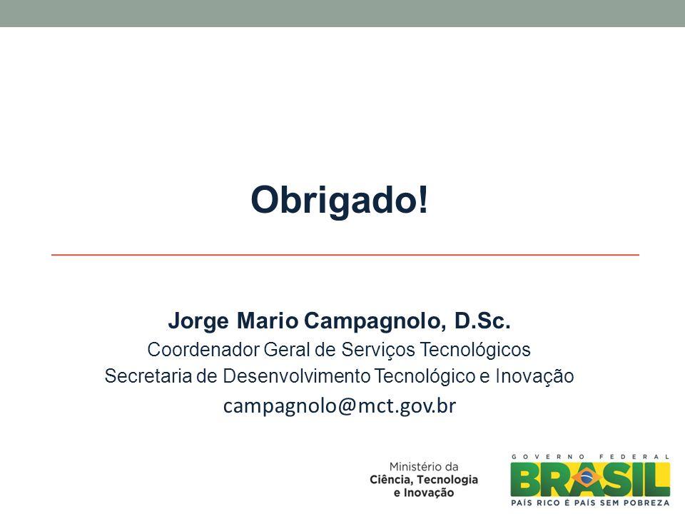 Obrigado.Jorge Mario Campagnolo, D.Sc.