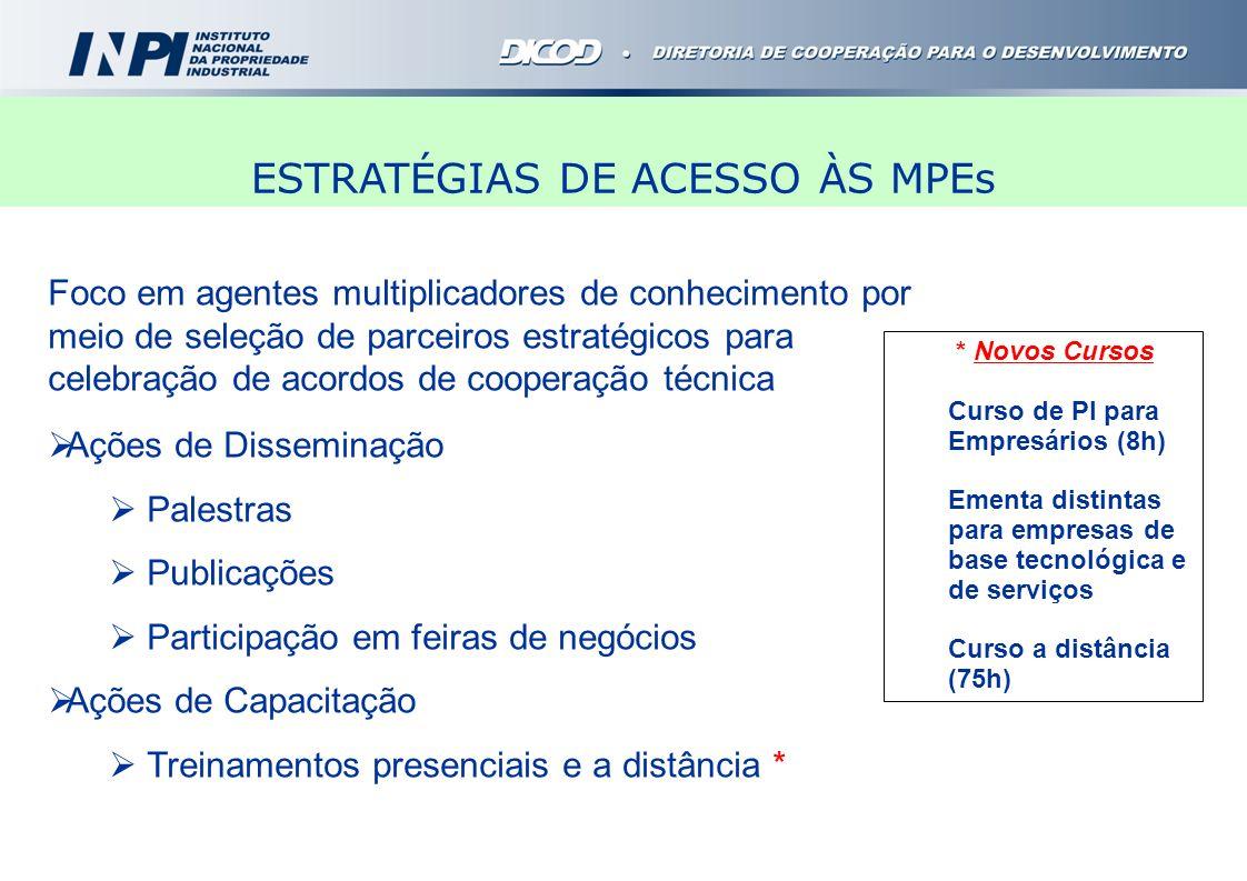 Foco em agentes multiplicadores de conhecimento por meio de seleção de parceiros estratégicos para celebração de acordos de cooperação técnica Ações d