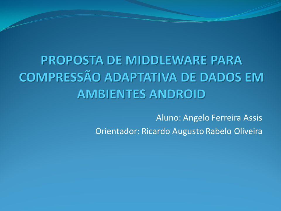 Aluno: Angelo Ferreira Assis Orientador: Ricardo Augusto Rabelo Oliveira