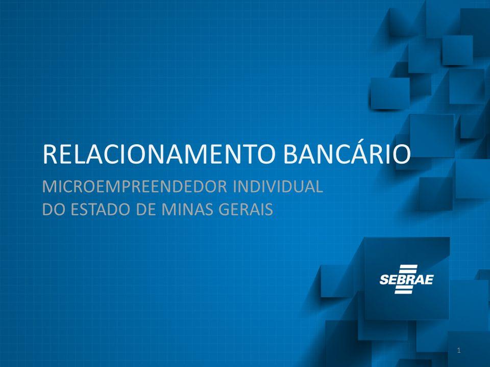 REDUZIU A PARCELA DE MICROEMPREENDEDORES INDIVIDUAIS QUE POSSUI CONTA BANCÁRIA Os empresários que não possuem conta alegam não possuírem tal necessidade PRINCIPAIS RESULTADOS Sobre a pesquisa A pesquisa foi realizada com 411 microempreendedores individuais do estado de Minas Gerais, entre os meses de agosto e setembro de 2013 BANCO 17 % não possui conta bancária, contra 13 % de 2011 R$ 66 % dos microempreendedores que tem conta bancária não conhece o valor da tarifa 79 % não conhece linhas de crédito específicas para pessoa jurídica A avaliação dos serviços bancários alcançou 76 pontos