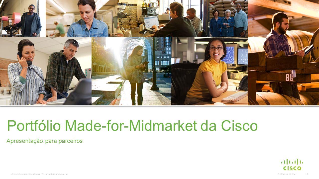 © 2010 Cisco e/ou suas afiliadas. Todos os direitos reservados. Confidencial da Cisco 1 Apresentação para parceiros Portfólio Made-for-Midmarket da Ci
