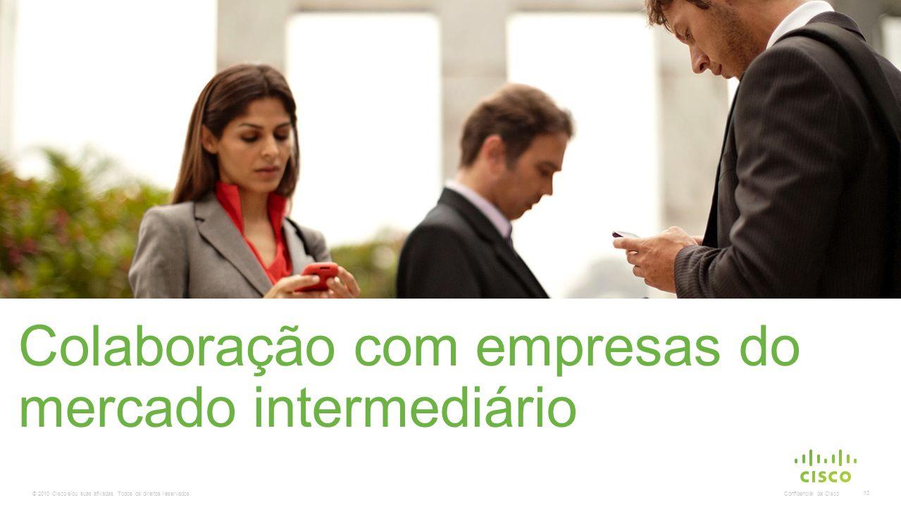 © 2010 Cisco e/ou suas afiliadas. Todos os direitos reservados. Confidencial da Cisco 13 Colaboração com empresas do mercado intermediário
