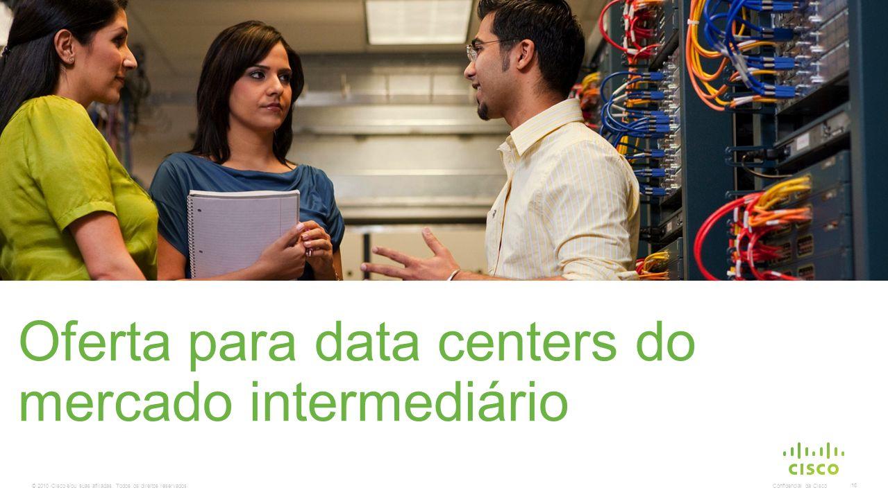 © 2010 Cisco e/ou suas afiliadas. Todos os direitos reservados. Confidencial da Cisco 16 Oferta para data centers do mercado intermediário