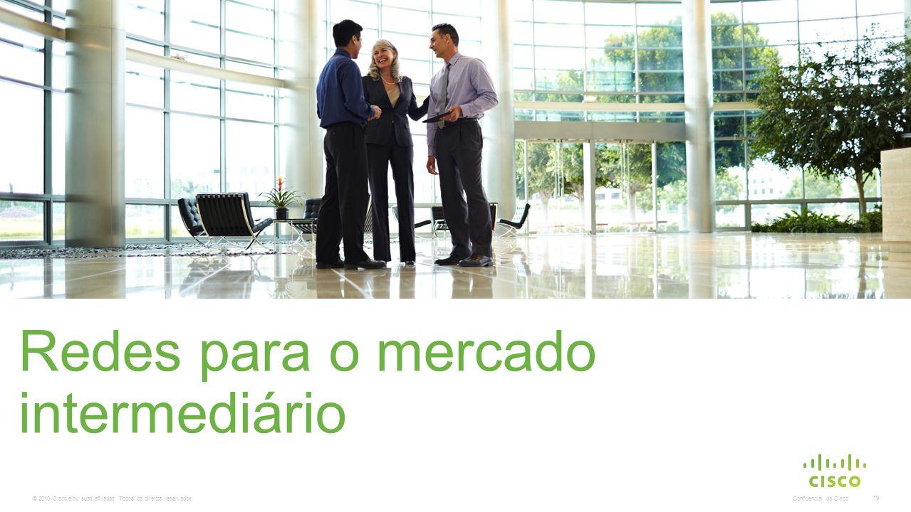 © 2010 Cisco e/ou suas afiliadas. Todos os direitos reservados. Confidencial da Cisco 19 Redes para o mercado intermediário