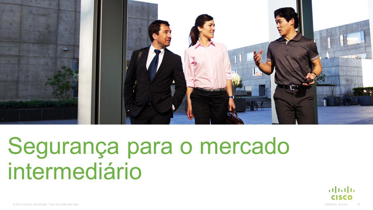 © 2010 Cisco e/ou suas afiliadas. Todos os direitos reservados. Confidencial da Cisco 22 Segurança para o mercado intermediário A substituição desta i