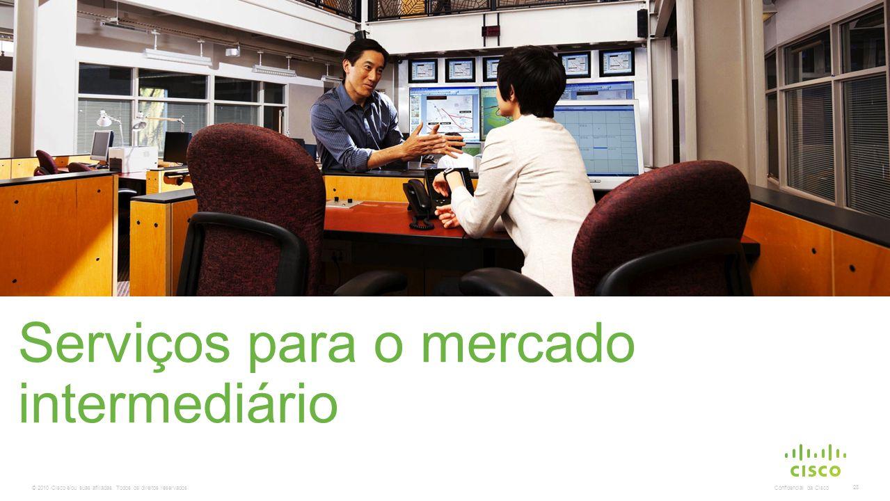 © 2010 Cisco e/ou suas afiliadas. Todos os direitos reservados. Confidencial da Cisco 28 Serviços para o mercado intermediário