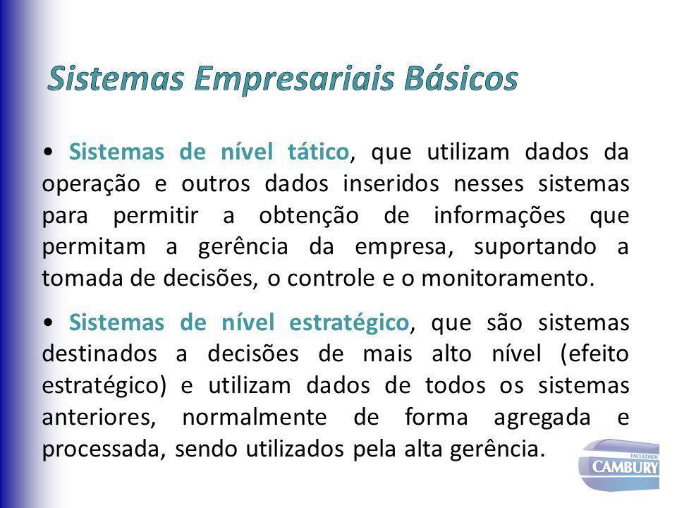 Comercial Produção/ Recursos Finanças Operacao Humanos Transacional Conhecimento Tatico/Gerencial Estratégico