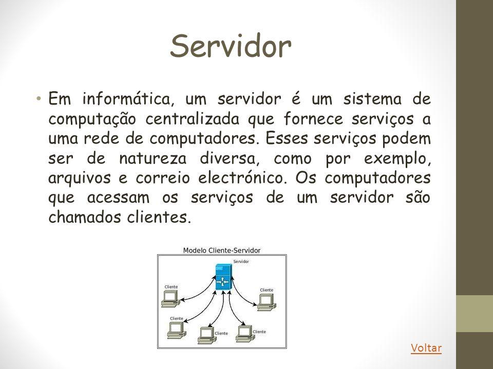 Cliente Cliente-servidor é um modelo computacional que separa clientes e servidores, sendo interligados entre si geralmente utilizando-se uma rede de computadores.