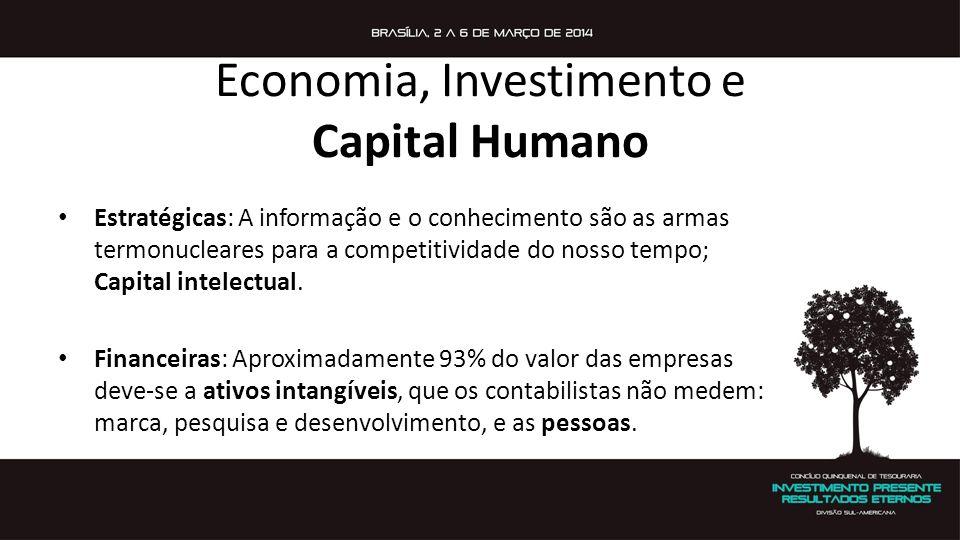 Economia, Investimento e Capital Humano Estratégicas: A informação e o conhecimento são as armas termonucleares para a competitividade do nosso tempo;