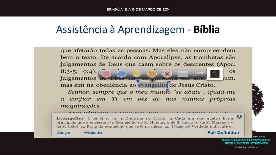 Assistência à Aprendizagem - Bíblia