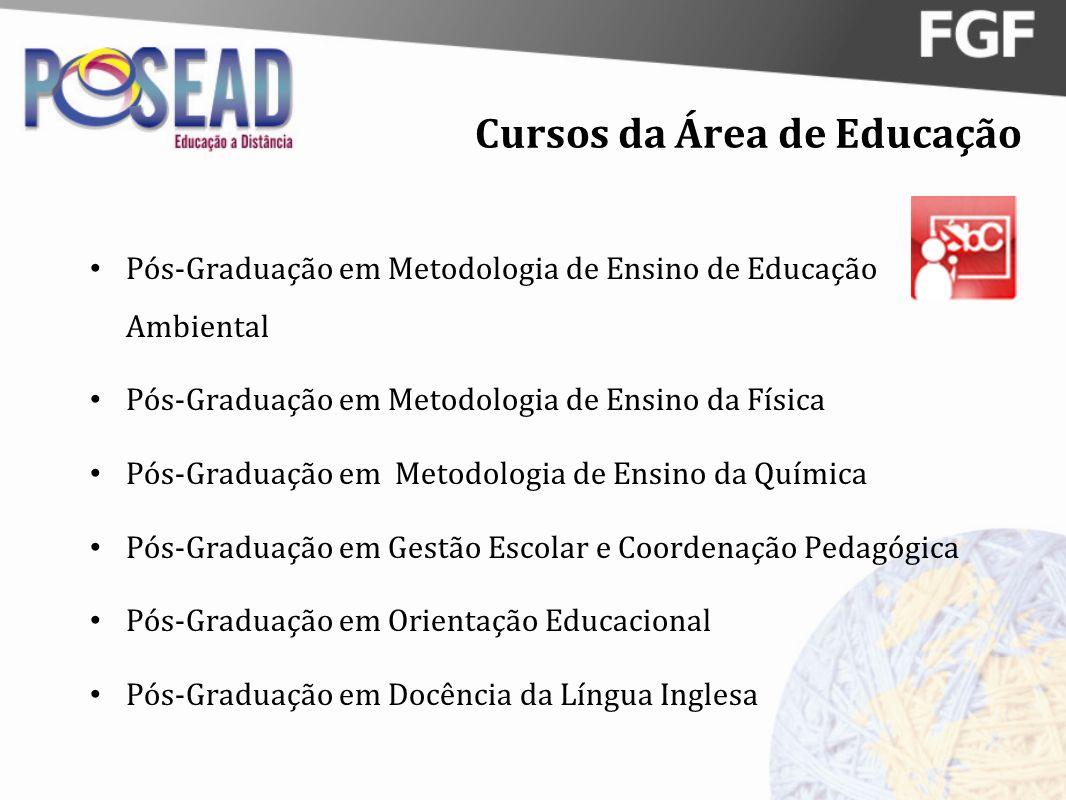 Cursos da Área de Educação Pós-Graduação em Metodologia de Ensino de Educação Ambiental Pós-Graduação em Metodologia de Ensino da Física Pós-Graduação