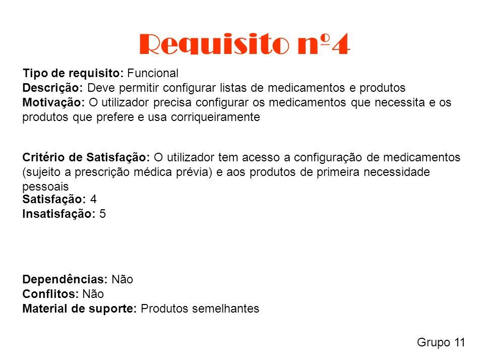 Requisito nº5 Grupo 11 Tipo de requisito: Dados Descrição: Deve ter a base de dados sempre actualizada Motivação: O utilizador precisa que a informação esteja sempre actualizada para que a aplicação funcione como esperado.