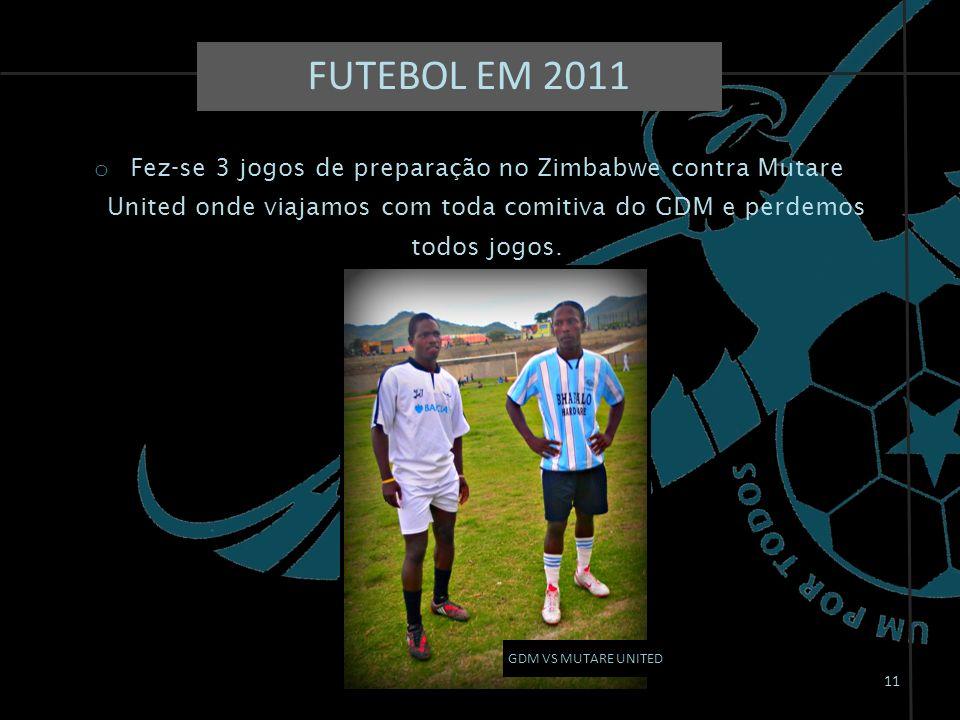 11 GDM VS MUTARE UNITED o Fez-se 3 jogos de preparação no Zimbabwe contra Mutare United onde viajamos com toda comitiva do GDM e perdemos todos jogos.