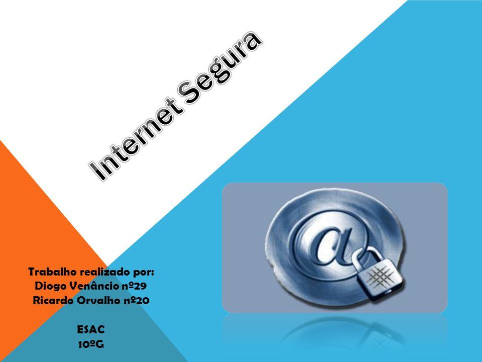 INTERNET SEGURA DOS JOVENS A comunicação e a publicação de informação na Internet não são supervisionadas por nenhuma entidade.