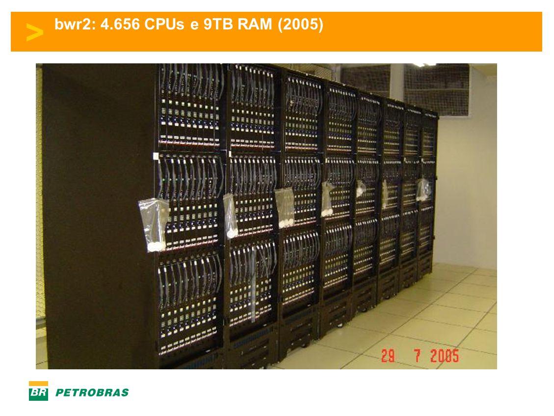 > bwr2: 4.656 CPUs e 9TB RAM (2005)