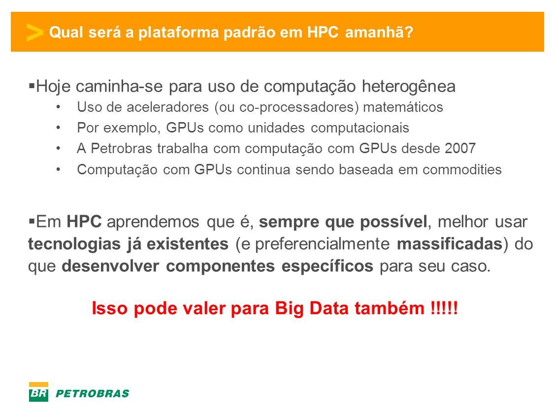 > Qual será a plataforma padrão em HPC amanhã.