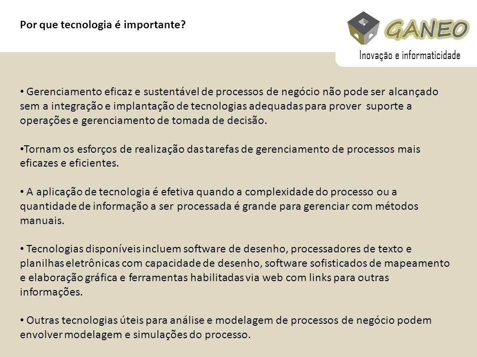 Por que tecnologia é importante? Gerenciamento eficaz e sustentável de processos de negócio não pode ser alcançado sem a integração e implantação de t