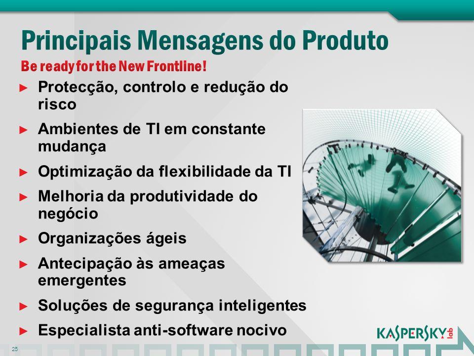 Protecção, controlo e redução do risco Ambientes de TI em constante mudança Optimização da flexibilidade da TI Melhoria da produtividade do negócio Or
