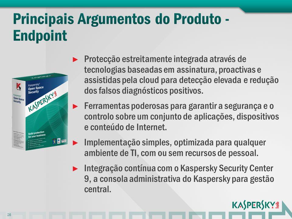 Protecção estreitamente integrada através de tecnologias baseadas em assinatura, proactivas e assistidas pela cloud para detecção elevada e redução do