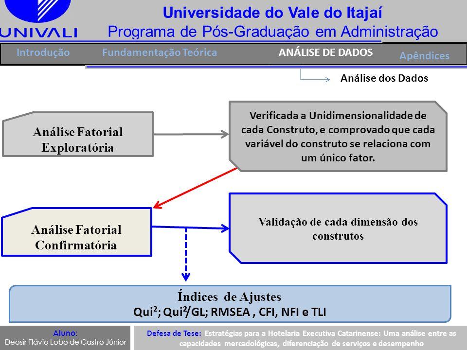 Universidade do Vale do Itajaí Programa de Pós-Graduação em Administração IntroduçãoFundamentação TeóricaANÁLISE DE DADOS Apêndices Análise dos Dados