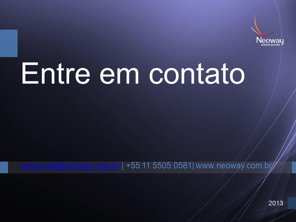 2013 Entre em contato comercial@neoway.com.brcomercial@neoway.com.br | +55 11 5505.0581| www.neoway.com.br