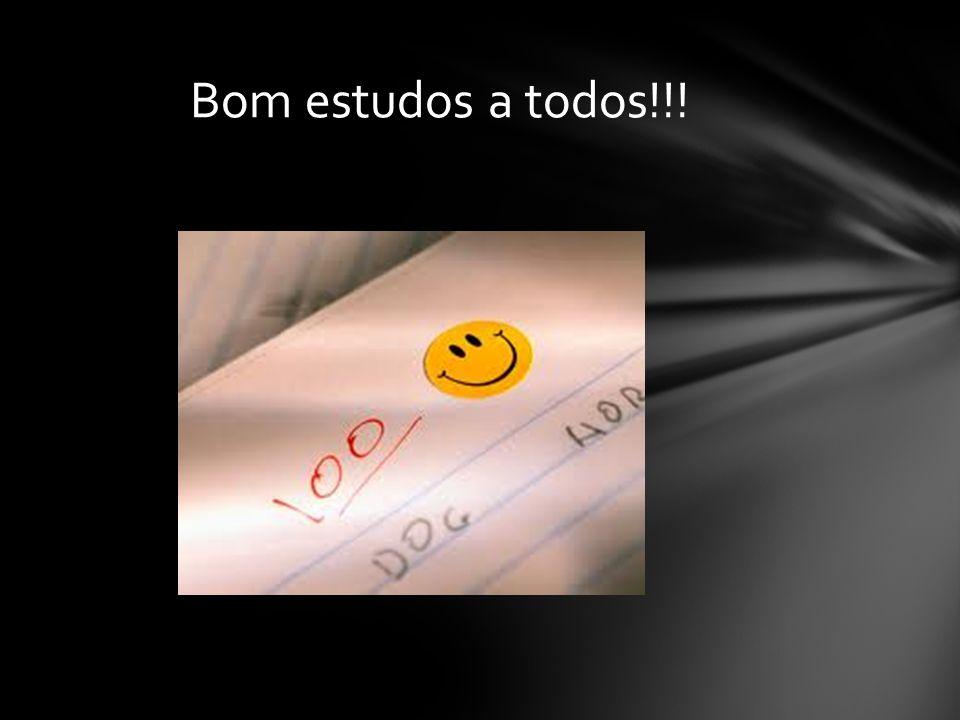 Bom estudos a todos!!!