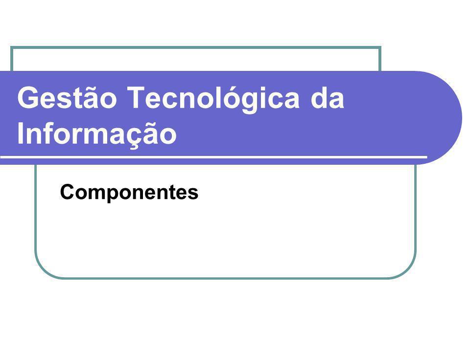 Gestão Tecnológica da Informação Componentes