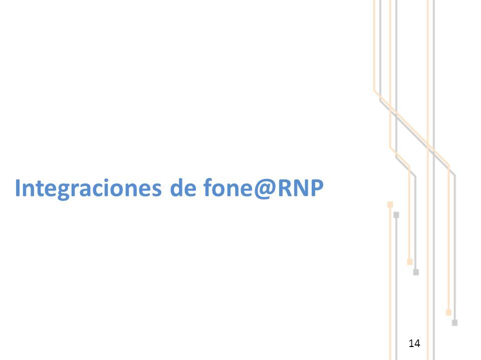 14 Integraciones de fone@RNP