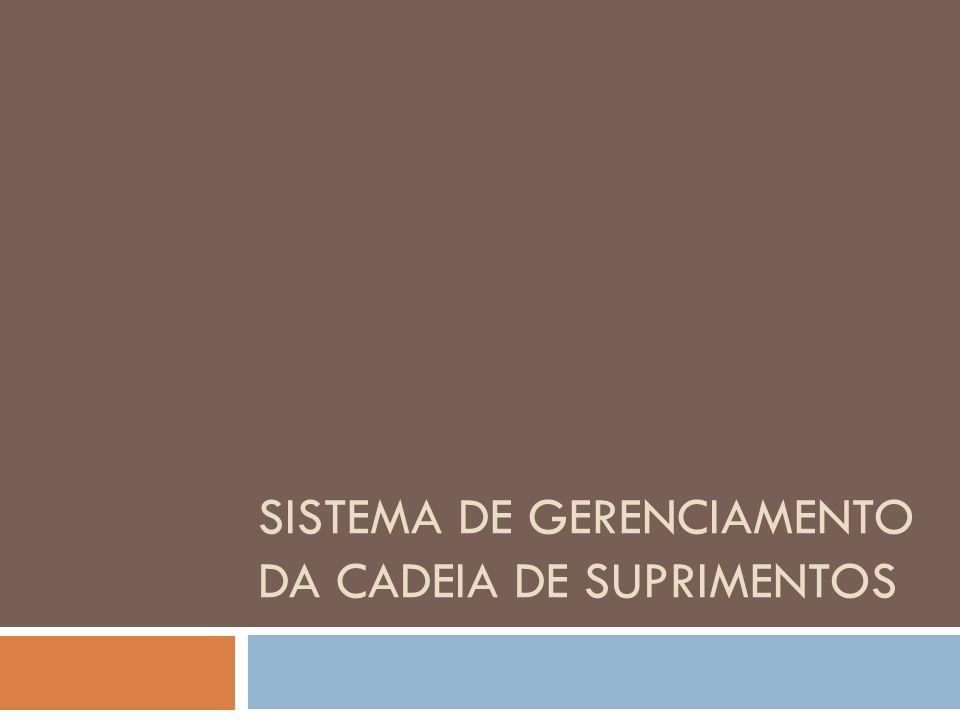 SISTEMA DE GERENCIAMENTO DA CADEIA DE SUPRIMENTOS