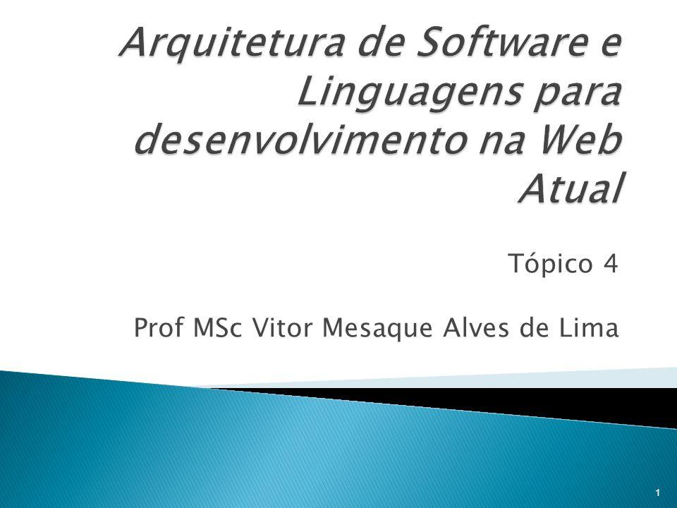 Tópico 4 Prof MSc Vitor Mesaque Alves de Lima 1