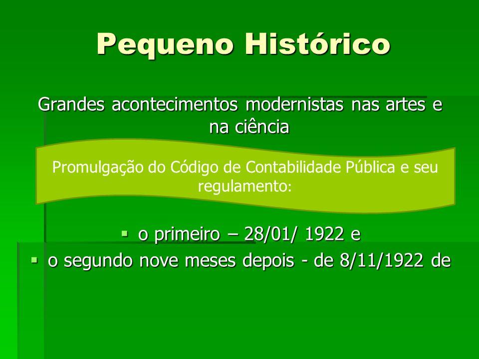 Pequeno Histórico Grandes acontecimentos modernistas nas artes e na ciência o primeiro – 28/01/ 1922 e o primeiro – 28/01/ 1922 e o segundo nove meses