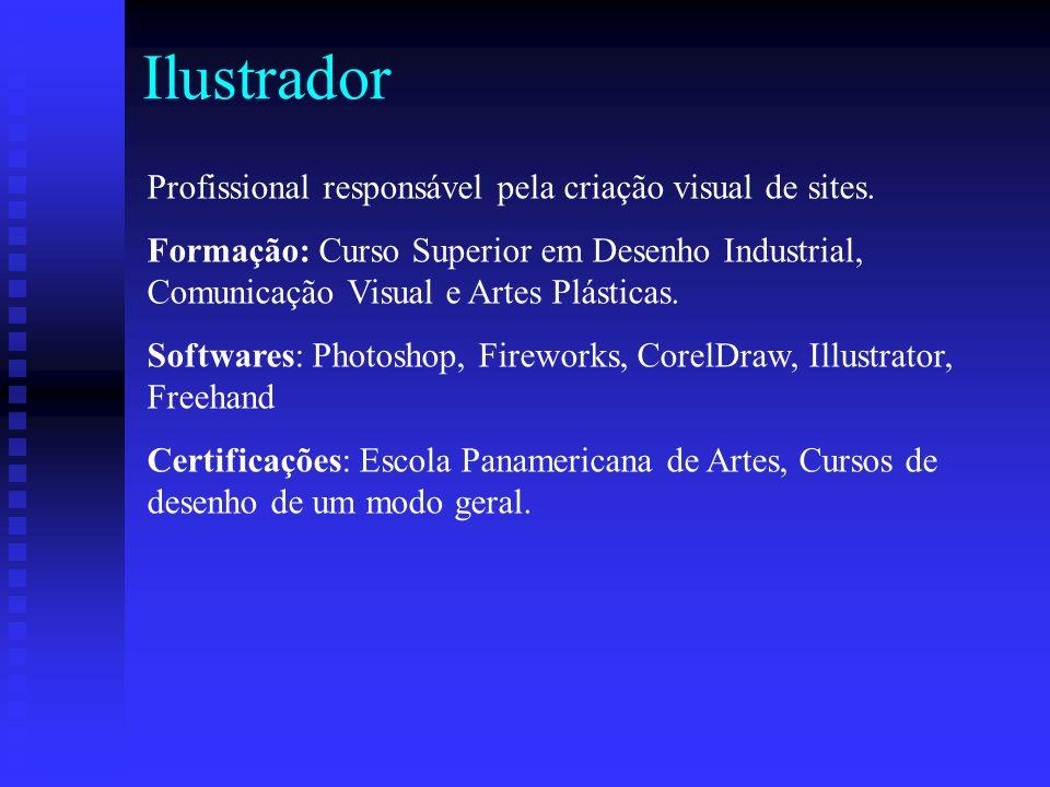 Ilustrador Profissional responsável pela criação visual de sites.