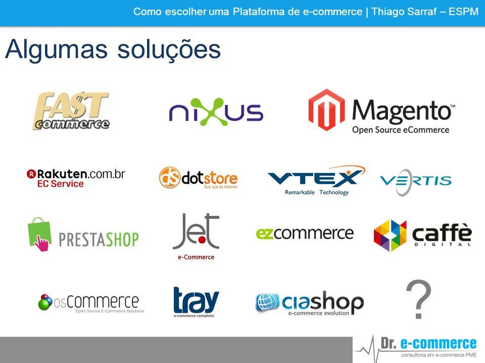 Como escolher uma Plataforma de e-commerce | Thiago Sarraf – ESPM Algumas soluções ?