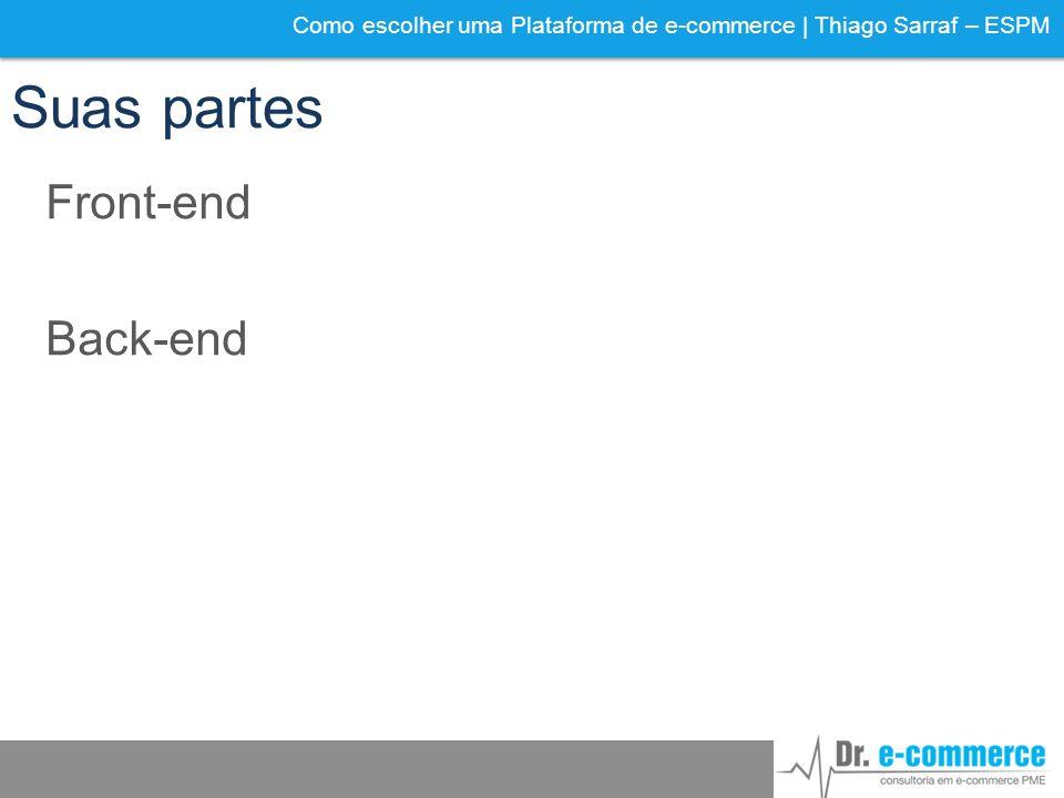 Como escolher uma Plataforma de e-commerce | Thiago Sarraf – ESPM Suas partes Front-end Back-end