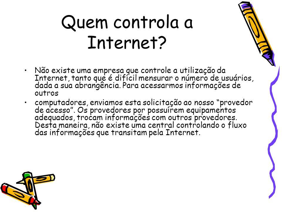 O que é necessário para se conectar à Internet .