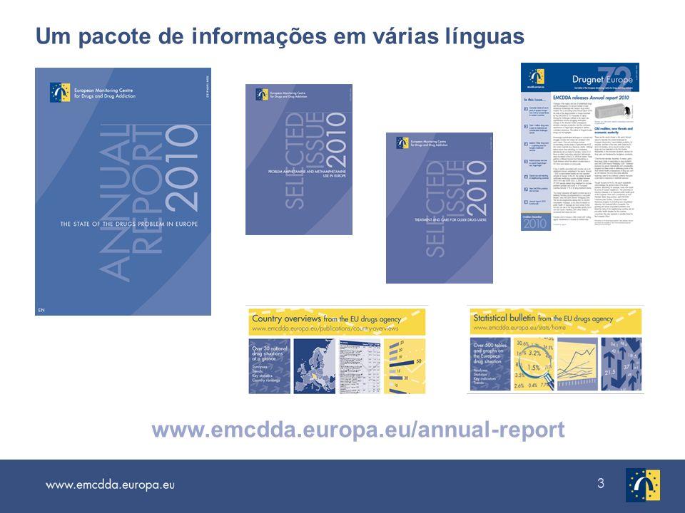 3 Um pacote de informações em várias línguas www.emcdda.europa.eu/annual-report