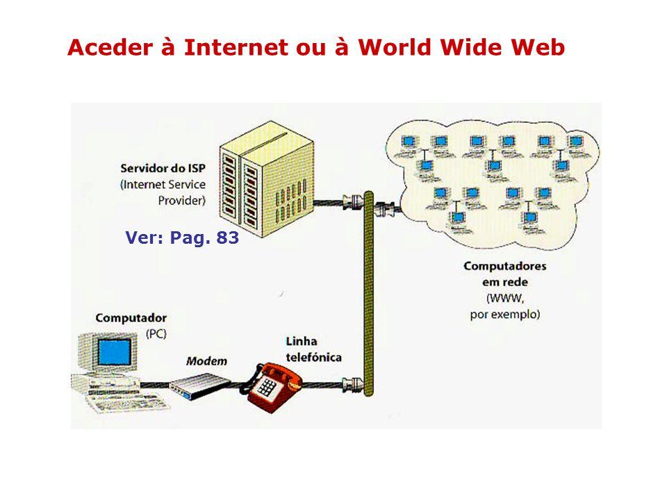 A World Wide Web (também é designada por WWW ou Web) É uma rede virtual dentro da Internet e é constituída por servidores de documentos em HTML (linguagem código que o browser descodifica) e também pelos computadores que podem aceder a eles.