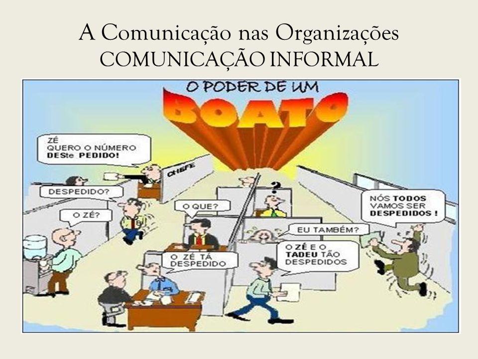 A Comunicação nas Organizações COMUNICAÇÃO INFORMAL