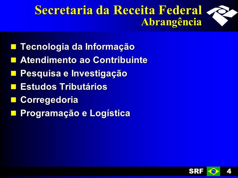 SRF4 Secretaria da Receita Federal Abrangência Tecnologia da Informação Tecnologia da Informação Atendimento ao Contribuinte Atendimento ao Contribuin