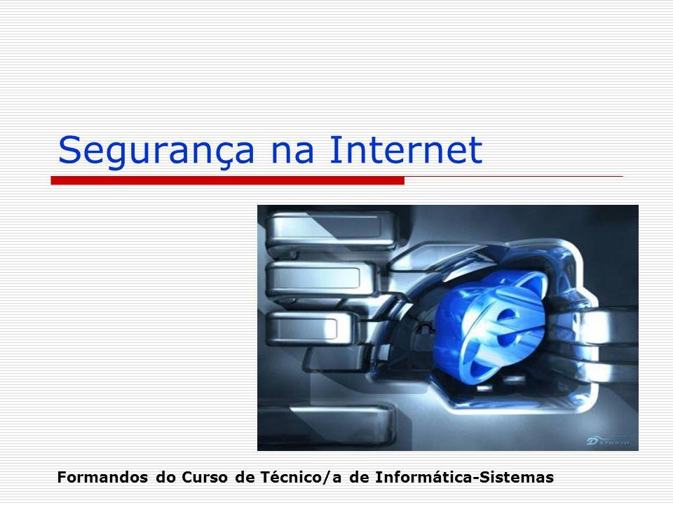 Segurança na Internet Formandos do Curso de Técnico/a de Informática-Sistemas