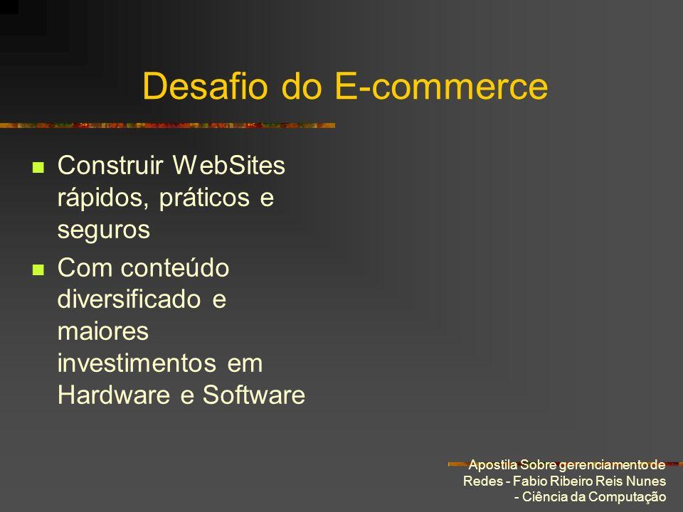 Apostila Sobre gerenciamento de Redes - Fabio Ribeiro Reis Nunes - Ciência da Computação Desafio do E-commerce Construir WebSites rápidos, práticos e